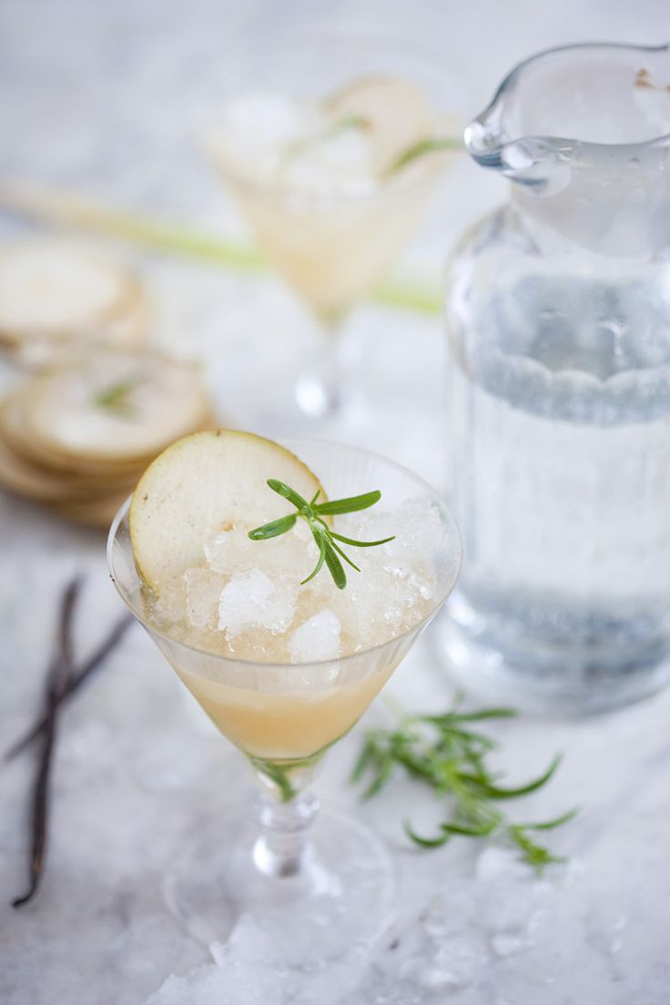 pear & rosemary cocktail.