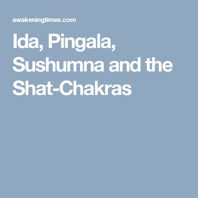 Ida, Pingala, Sushumna and the Shat-Chakras