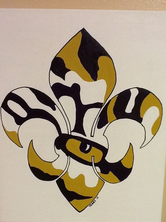 My fleur de lis tiger eye painting   # Pinterest++ for iPad #