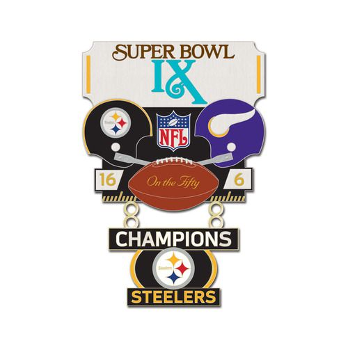 Super Bowl IX (9) Steelers vs. Vikings Champion Lapel Pin