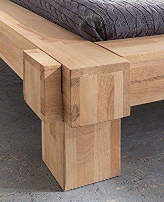 Massivholzbett LUNA Balkenbett in Kernbuche Doppelbett , Größe:140x200: Amazon.de: Küche & Haushalt