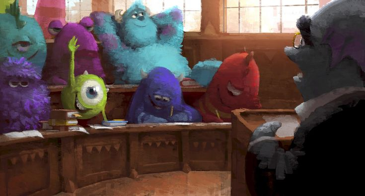 pixar disney artwork monstres academy monsters university