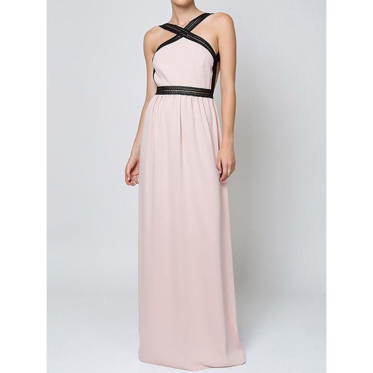 Maxi Φόρεμα Με Ανοιχτή Πλάτη-Ροζ Milk & Honey