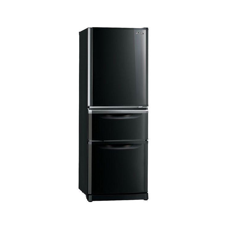 Mitsubishi 375L Black Fridge Freezer MR-C375G-OB-A