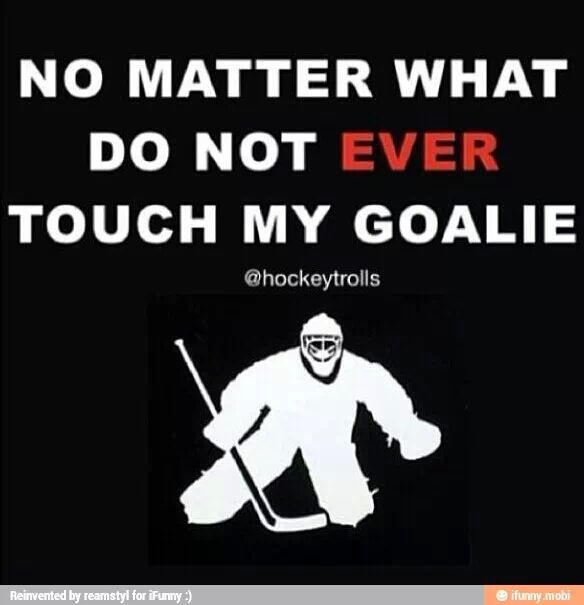 Hockey -> goalie. Corbin was taught this as a defensemen. Now he is the one depending on his defense.