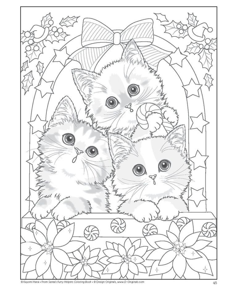 Santas Furry Helpers Coloring Book Colouring Books: Amazon.de: Kayomi Harai: Fremdsprachige Bücher