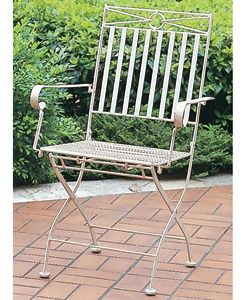 @Overstock - This iron folding chair with arms is for indoor or outdoor use  Patio chair features a versatile antique white finish  EP rust protection for long lasting outdoor beautyhttp://www.overstock.com/Home-Garden/Iron-Folding-Chair-with-Arms-Set-of-2/2990523/product.html?CID=214117 $125.00