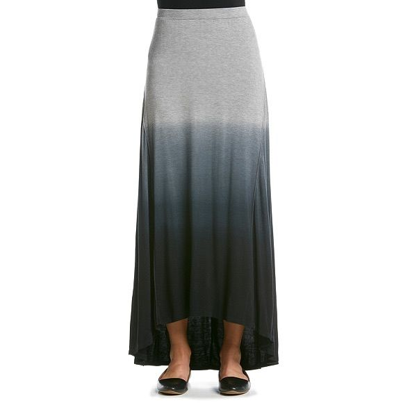 30% OFF BUNDLES - Gray Dip Dye Hi Low Skirt - NWT Casual and cute, this hi low hem maxi skirt from Cable & Gauge features a trendy dip dye pattern and stretch waistband for added comfort.  •Featured in grey •Stretch waistband •Below the knee •Hi low hem •Dip dye pattern •Cotton Cable & Gauge Skirts High Low