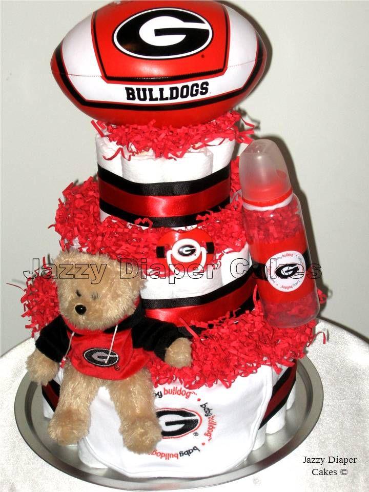 Georgia Bulldogs Diaper Cake Georgia Bulldogs Georgia Bulldogs