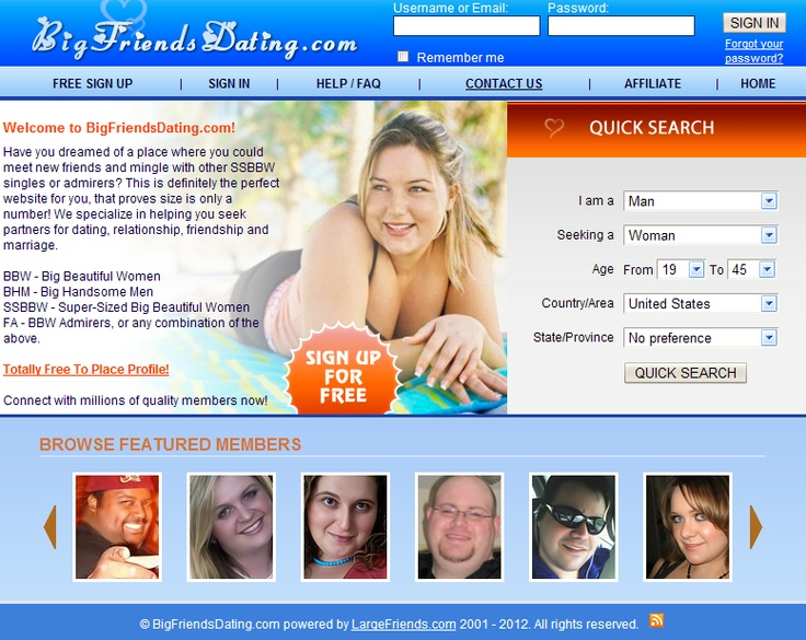 sellers bbw dating site Bbwcupidcom is a specialist bbw dating and matchmaking website that assists  people from around the world to find their perfect match we offer friendly.