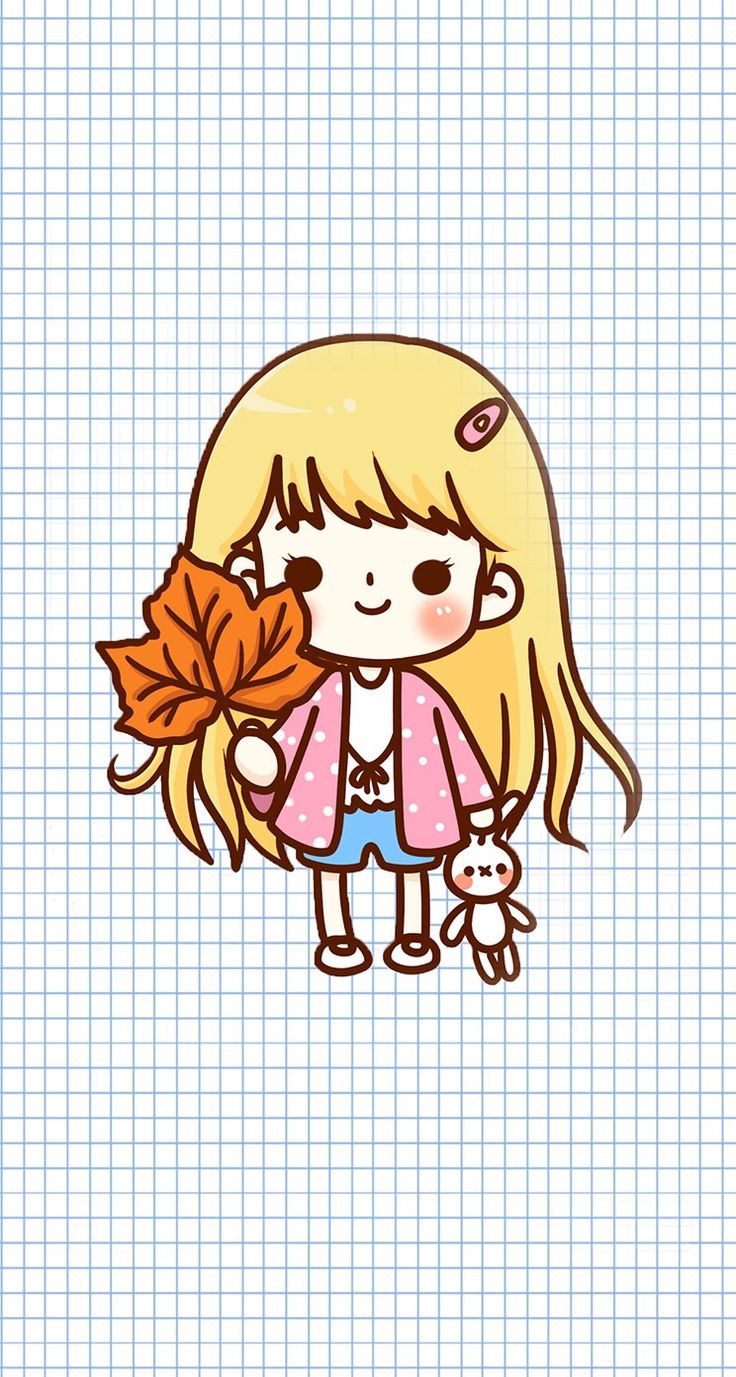 #cute #doodle #wallpaper #desktop #screensaver #iphone #background #smartphone #phone #girl #kawaii