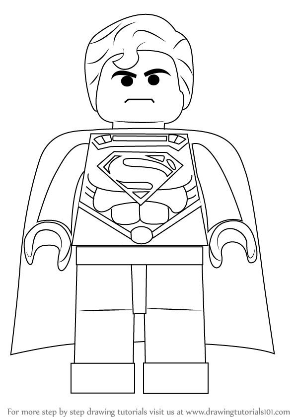 Learn How to Draw Superman from The LEGO Movie (The Lego Movie) Step by Step : Drawing Tutorials