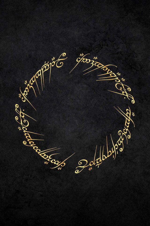 """""""Um Anel para a todos governar, um Anel para encontrá-los, um Anel para todos trazer e na escuridão aprisioná-los."""""""