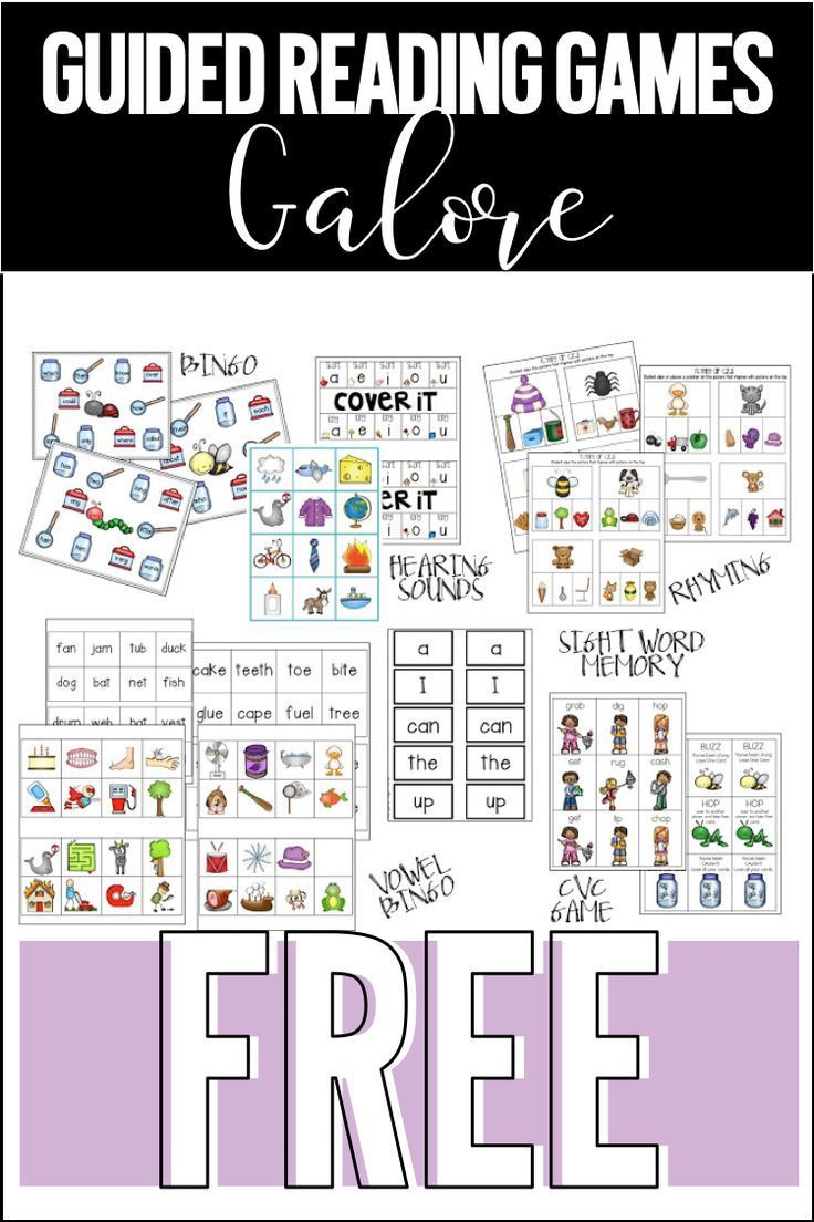 Grab a ton of free guided reading games. Great for kindergarten and first grade small group reading work.