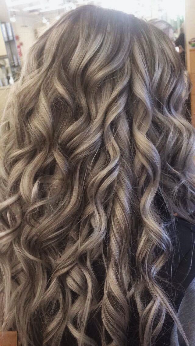Ashy Blonde With Brown Roots & Lowlights