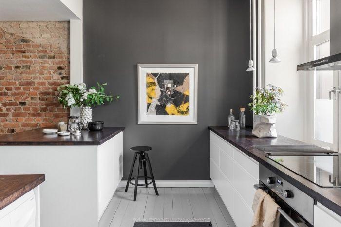 94 Design De Cuisine Blanche Et Grise Tendance Deco Pour 2019 Salle A Manger Scandinave Decoration De Cuisine Blanche Chambre Avec Mur Blanc