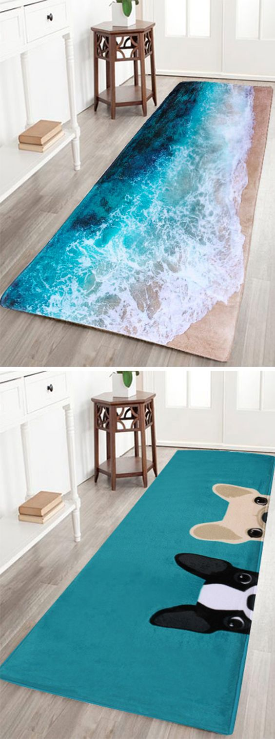 fall decor ideas:Flannel Skid Resistance Water Absorb Carpet