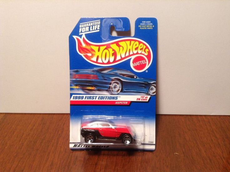 Hot Wheels Jeepster #922 1999 First Editions Red & Black Jeep 50 Cent Comb Ship #HotWheels #Jeep