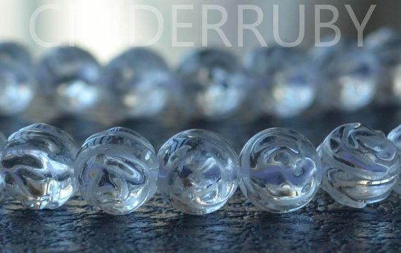 Rock Crystal Quartz Round BeadsRock Crystal Round by CINDERRUBY, $4.00