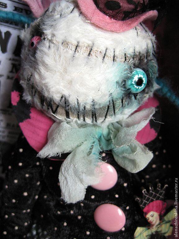 Купить Малышка КЛО - чёрно-белый, розовый, клоун, клоунесса, цирк, фрик, страшилка