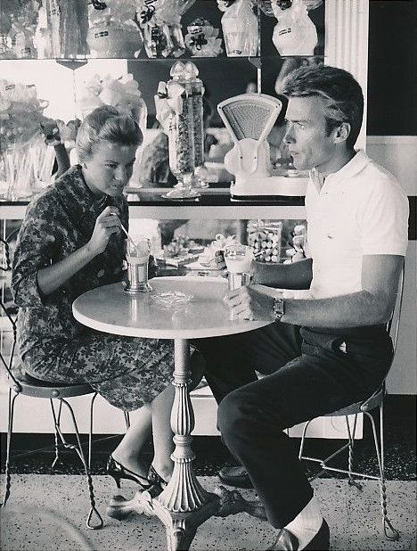 Clint Eastwood and his wife, Maggie Johnson, 1960