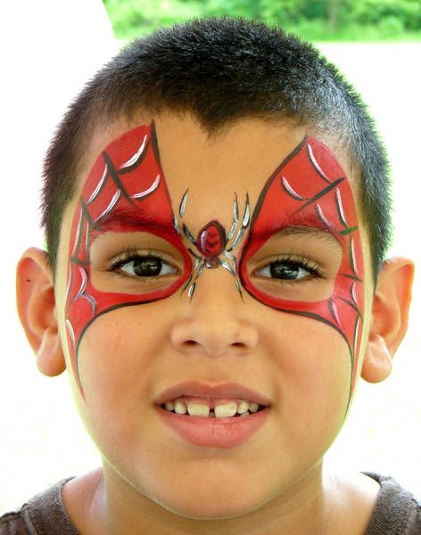 Face painting for kids: SpiderMan