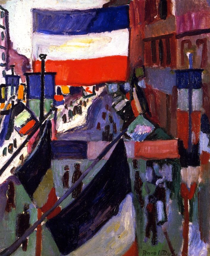 Street Decked with Flags (also known as The Fourteenth of July at Le Havre) / Raoul Dufy - 1906