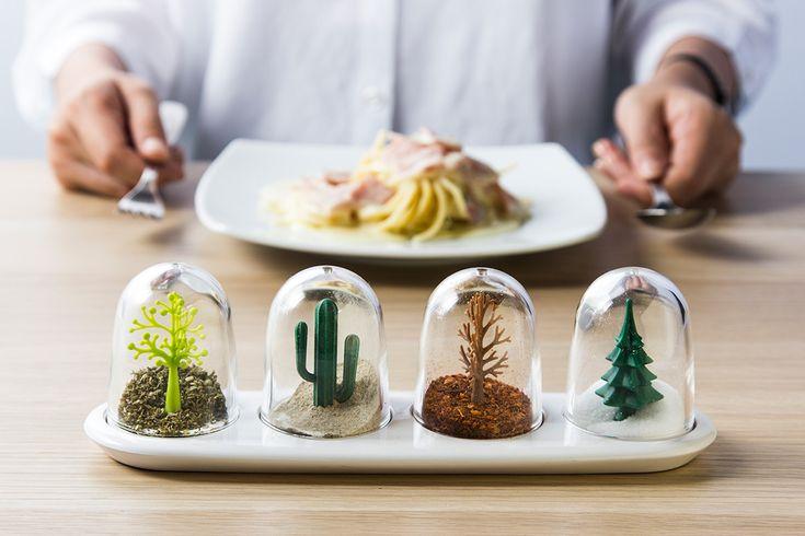 Čtvero ročních období na vašem stole. Ideální pro uskladnění koření a sypkých výrobků.