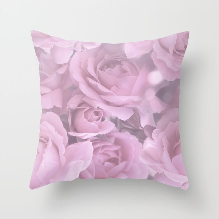 Pink Rose Bouquet Romantic Atmosphere #decor #society6 #buyart Throw Pillow