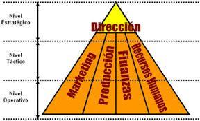 Organizacion jerarquica y departamental de una empresa