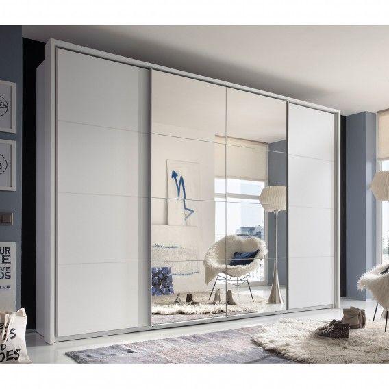 Schwebetürenschrank Balai (inkl. Syncro-Technik) - Weiß Dekor | Home24