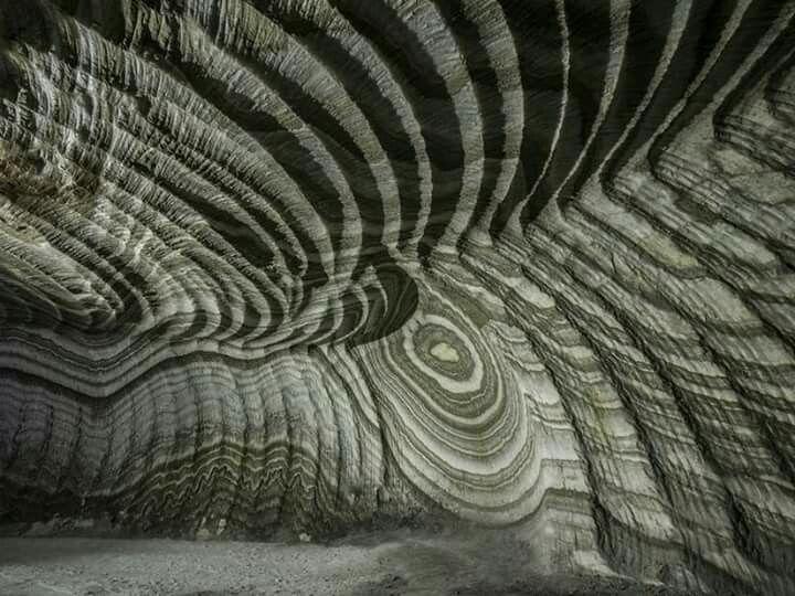 Realmonte . Mina de sal, Sicilia