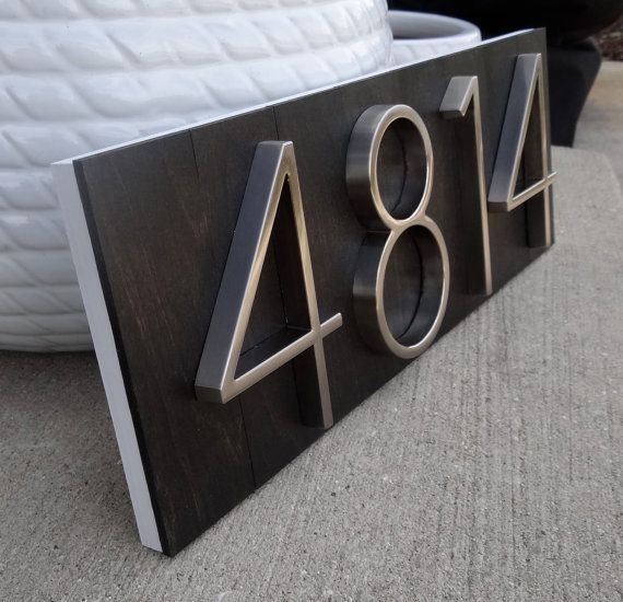 The 25 best House number plaques ideas on Pinterest Diy house