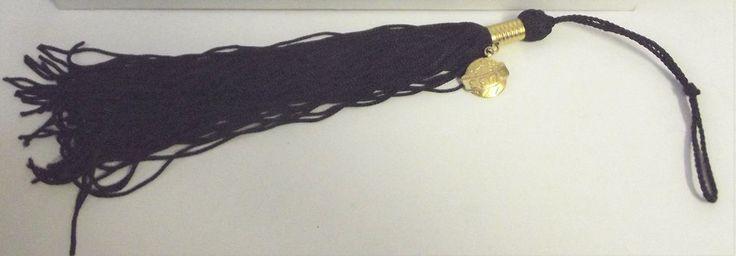 Vintage 1970 #HighSchool #College Graduation #Tassel Solid Black Color