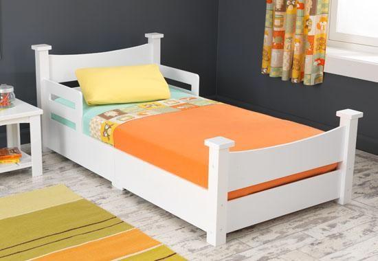 Best Kidkraft Addison Toddler Bed White Convertible Toddler 640 x 480