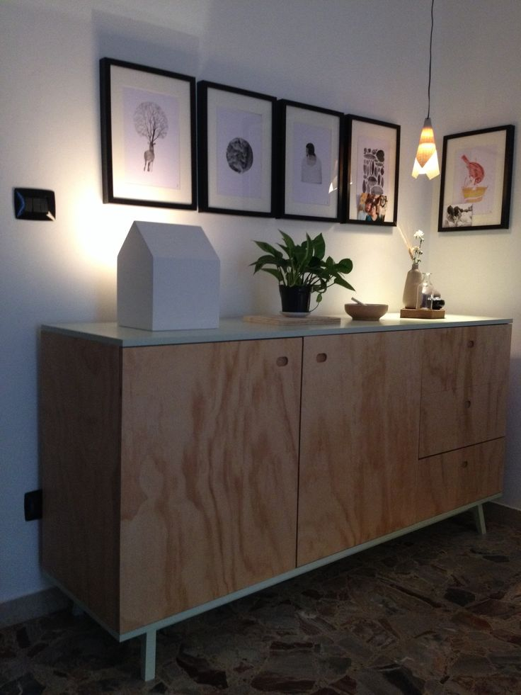 Cabinet plw pine ,top and legs green
