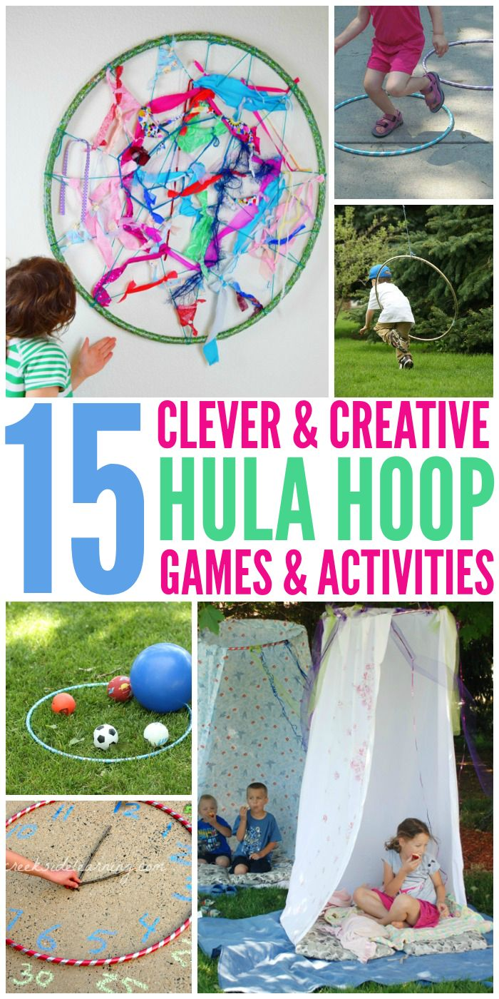 Fun and creative ways to use a hula hoop other than just doing the hula.