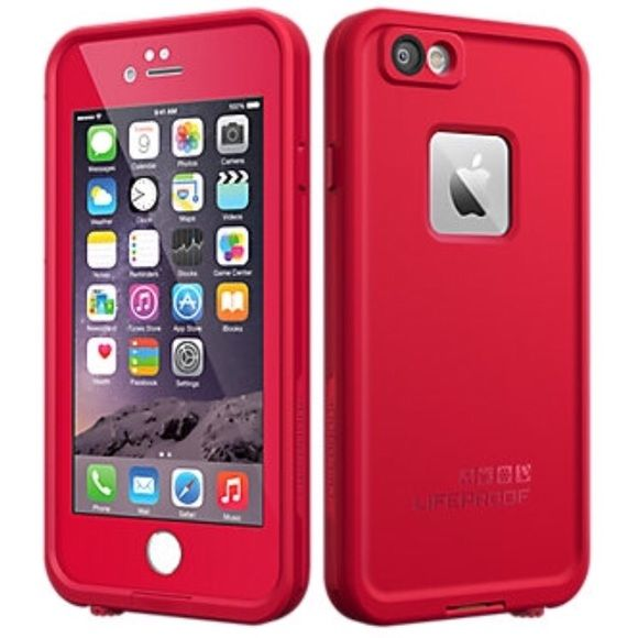 Red iPhone 6 / 6s Life Waterproof Shockproof Case New Red Redline iPhone 6 / 6s Life Waterproof Shockproof Dirtproof Dustproof Snowproof Protective Case. LifeProof Other