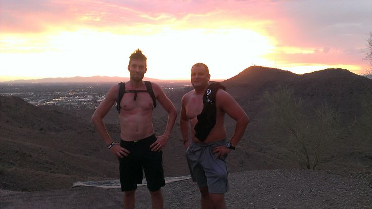 With my brother The Painted Warrior (Stephen) training on North Mountain, Arizona