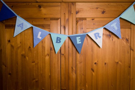 Personalised bunting Personalized bunting Name by FabrikaUK