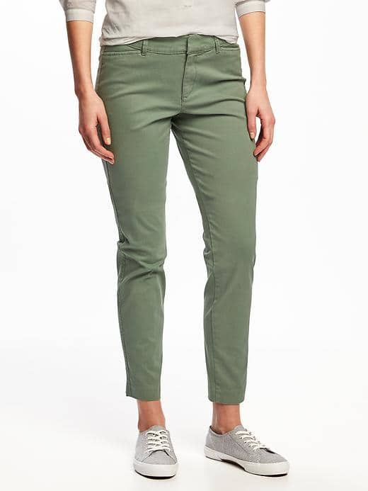Old Navy mid-rise pixie chinos for women // Petite, Regular, and Tall inseams
