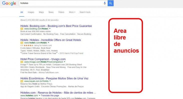 Google está eliminando los anuncios laterales del buscador