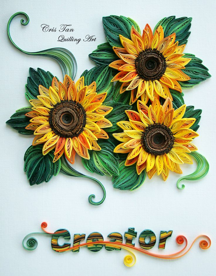 quilling sun flowers