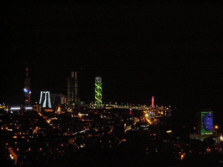 Batumi - éjszakai panoráma