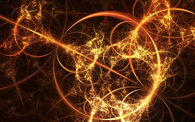 Firey fractal web wallpaper