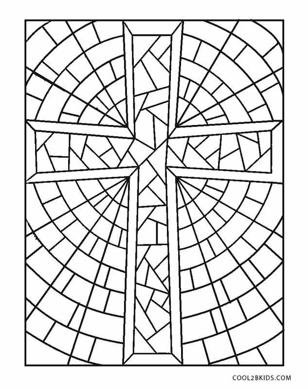 Stained Glass Cross Coloring Page Jpg 633 800 Pixels Cross Coloring Page Jesus Coloring Pages Coloring Pages For Teenagers