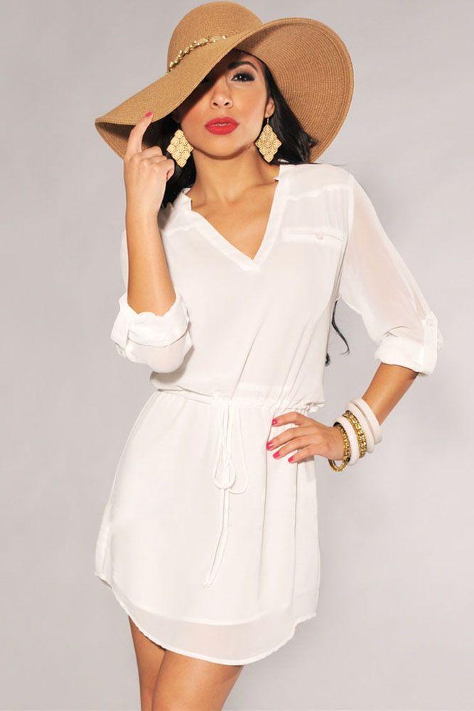 Vestidos Mini : Vestido camisero