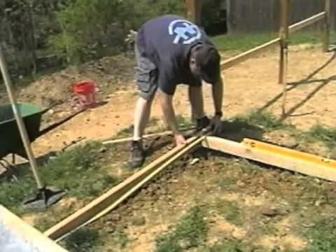 How To Level Ground - make a level frame and fill it in using a tamper ($29 at HD)