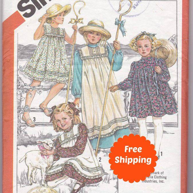 Flower Girl Dress Girls Dresses Sewing Patterns Children Bloomers Birthday Dress Girls Dress Pattern Girls Party Dress Simplicity 5730 by PatternsFromOz on Etsy