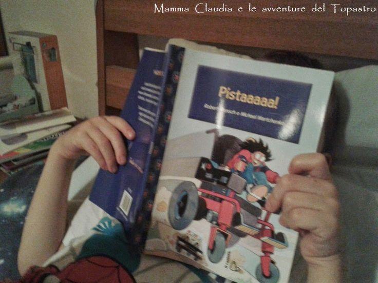 Mamma Claudia e le avventure del Topastro: Venerdì del libro: Pistaaaaa! Lauretta è una bambina vivace e un po' birichina che quando si reca al negozio di sedie a ruote per comprare una nuova carrozzina elettrica sceglie quella più veloce e ne combinerà di tutti i colori!